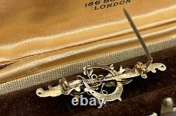 Antique Edwardian 9ct Gold swallow bird brooch 2.4g Sweetheart Love Gift Bride