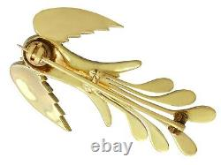 Antique Victorian 0.23ct Ruby and 0.70ct Diamond 10ct Yellow Gold Bird Brooch