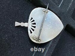 Antique Victorian Fine Aesthetic Movement Silver Bird Brooch-RARE DESIGN