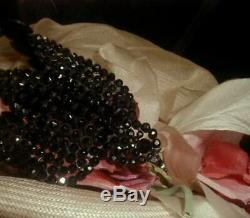 Antique Victorian French Jet Black Bird Millinery Hat Ornament Brooch Mourning
