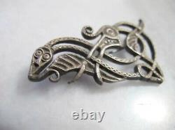 Antique Victorian Silver Snake and Bird Brooch