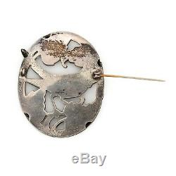 Antique Vintage Deco Sterling Silver NORSELAND CORO Bird of Paradise Pin Brooch