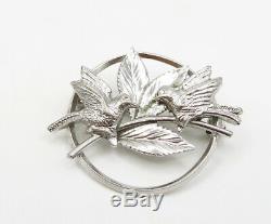CARL ART 925 Sterling Silver Vintage Petite Humming Birds Brooch Pin BP1104