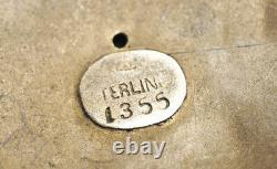 Classic Antique William B Kerr Sterling ART NOUVEAU PEACOCK Brooch Pin bird