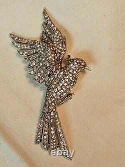 Crown Trifari Bird Brooch Pin Vintage