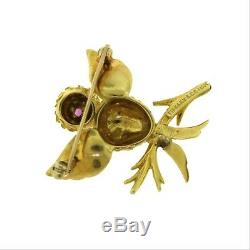 Estate AUTHENTIC TIFFANY & CO. Vintage Bird BROOCH / PIN in 18K Yellow GOLD