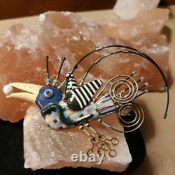 Estate Cynthia Chuang Jewelry 10 Artisan Signed Vintage Bird Brooch Pin