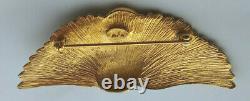 GOLD crane brooch MFA pin bird Museum of fine art vintage japanese print swan