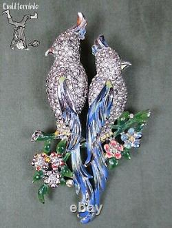 Gene Verrecchio Coro Duette Calopsita Birds Brooch Pin Spilla Vintage 1941 G