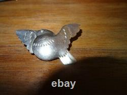 Georg Jensen vintage Sterling Silver Bird In Flight brooch 320 Denmark
