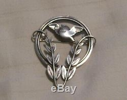 Georg Jensen vintage bird brooch #258 by Arno Malinowski