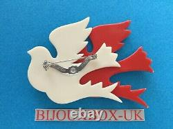 LEA STEIN VINTAGE DOUBLE BIRD BROOCH. Best Vintage Selection Online