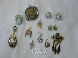 Lily of Valley Bird Brooch Victorian Aesthetic Movement Diamond 16K c1880 Rare