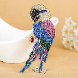 New Rhinestone Birds Fashion Women Vintage Anniversary Pins Hijab Brooch Jewelry