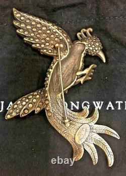 New Vintage Jay Strongwater Bird Of Paradise Brooch