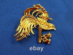 Nolan Miller Bird of Paradise Brooch Pin Glamour Collection Vintage (COS007)