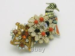 Ornate STANLEY HAGLER N. Y. C. Exotic Bird Brooch Pin