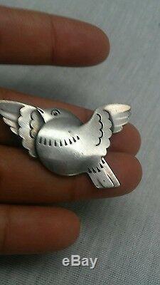 Pretty vintage Georg Jensen Denmark 925S sterling bird 320 pin brooch