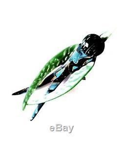 RARE VINTAGE LEA STEIN SWALLOWithSWIFT BIRD BROOCH