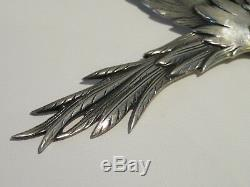 Rare And Large Vintage Danecraft Sterling Brooch In The Form Of A Bird, 1950's