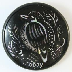 Rare Lea Stein Vintage Signed Collectible Serigraphy Brooch Pin Black Bird
