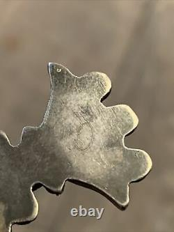 Rare Vintage Zuni Bird Kachina Sterling Silver Turquoise Brooch