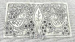 Shula Shek Vintage Modernist Birds Silver Sterling 925 Pin Brooch Signed Israel