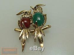 Silber 835 Brosche Vogelpaar Vintage Silver Bird Brooch Um 1960