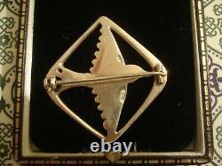 Striking & Fine Vintage 1975 OLA GORIE Odin's Bird Sterling Silver Brooch
