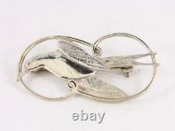 Swallow Brooch Bird Shetland Silver Vintage Sterling 925 4.8g Bt67