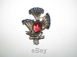 TRIFARI vintage sterling brooch Bird