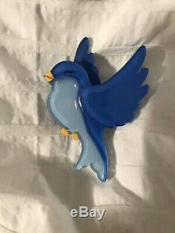 Tangerine Menagerie Brooch (Vintage Inspired) Blue Bird 2016