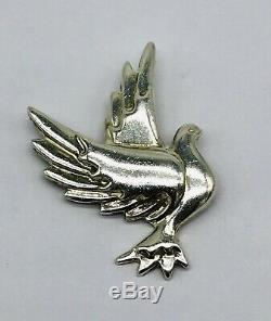 Tiffany & Co. Sterling Silver 925 Paloma Picasso Dove Bird Brooch Pin Vintage