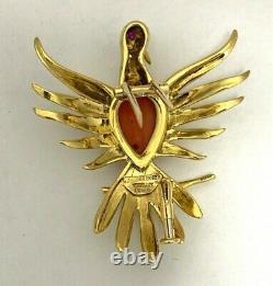 Tiffany & Co Vintage Schlumberger Phoenix Bird Brooch