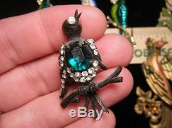 VINTAGE Brooch Group 6 BIRDS Incl. 1-SPECTACULAR WEISS