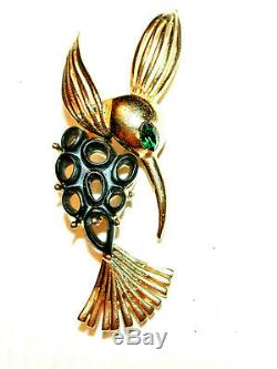 VINTAGE LARGE MOD HUMMINGBIRD BROOCH by SPHINX 1960's