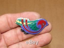 VTG Tara Ware Dublin Ireland Celtic Sterling Silver Enamel Bird Brooch Pin Boxed