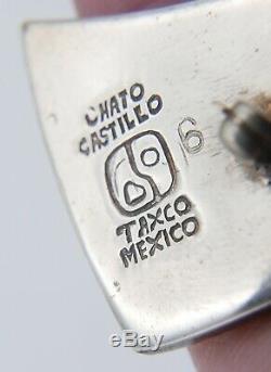Vintage Abstract Sterling Silver Los Castillo Bird Brooch Taxco