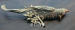 Vintage Beautiful Birds of Paradise Brooch Pin Costume Jewelry Unbranded (AS1)