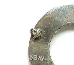 Vintage Brooch Round Birds Birmingham 1961 HM 925 Sterling Silver 16.6g