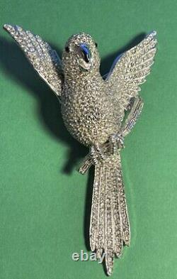 Vintage CINER Parrot Large Pin Brooch (Bird)