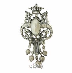Vintage Cini Sterling Silver Large Phoenix Bird Dangle Pin Brooch Pendant Combo