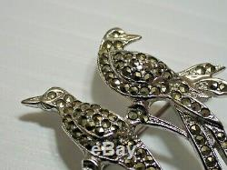 Vintage Collectable Rega Marcasite Birds of Paradise Brooch Australian