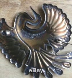 Vintage David-Andersen Norway 925 Sterling blue enamel bird of paradise brooch