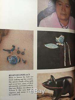 Vintage Ellen Quandelacy Zuni Running Bird Turquoise Sterling Silver Pin Brooch