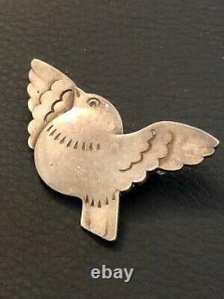 Vintage GEORG JENSEN Sterling Silver Pin Brooch Bird In Flight Arno MALINOWSKI