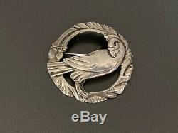 Vintage Georg Jensen Copy Dove Bird Sterling Silver Pin Brooch