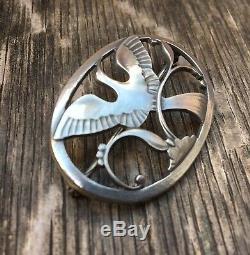 Vintage Georg Jensen / Malinowski Sterling Silver Paradise Bird Brooch # 238