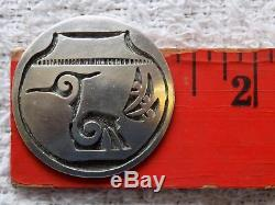 Vintage HOPI Sterling Silver Pendant Brooch Bird Signed
