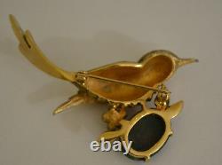 Vintage Jomaz Mazer Brooch Figural Bird